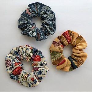 Kimono 👘 Scrunchies, Vintage Silks, Set of 3